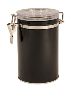 "Coffee storage container ""Pango"", black, 250 g"